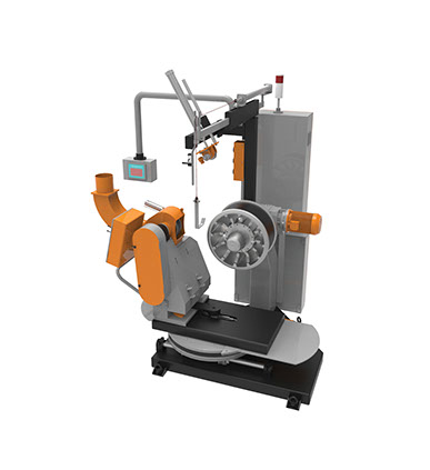 Buffing Machine 3D view